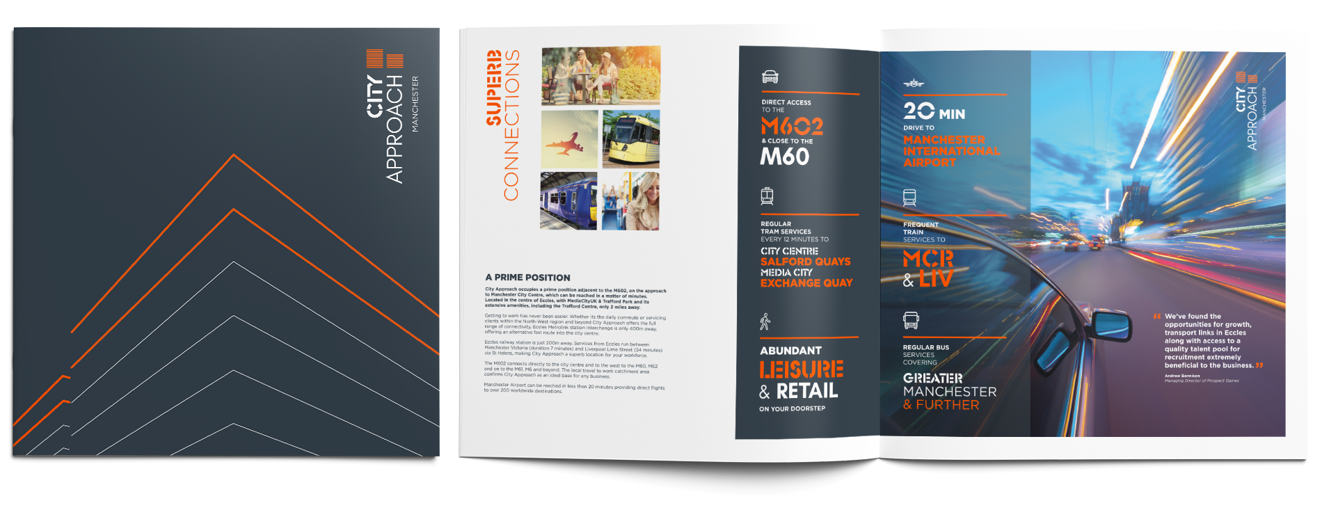 Creative brochure design for commercial property and b2b